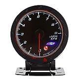 Keenso - Medidor de tacómetro de 12V - Cambio universal de 9000 RPM con retroiluminación LED para