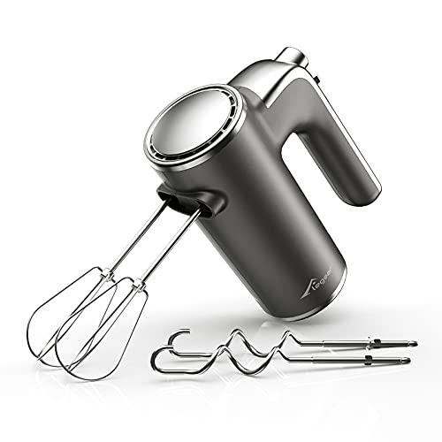 Handmixer Elektrischer - Elegear Handrührer mit 5 Geschwindigkeiten, Turbofunktion und Auswurftaste Handrührgerät Startfunktion, die Spritzen vermeidet, Einfache Lagerung praktischer Halterung, 400W
