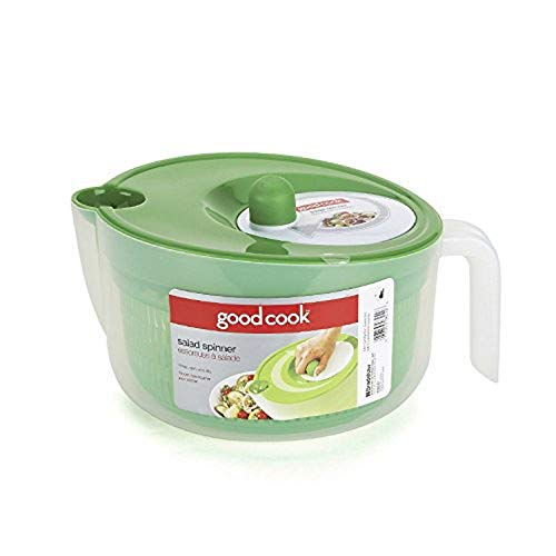 GoodCook BPA-Free Plastic 5-Qt. Capacity Deluxe Salad Spinner with Rotary Turn Knob
