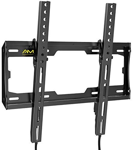 Soporte de Pared para TV Alphamount - Soporte Inclinable para TV para la Mayoría de Televisores Planos y Curvos de 23 a 55 Pulgadas de hasta 45 kg, VESA Máximo de 400 x 400 mm