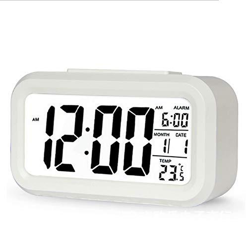 Reloj Despertador Digital,Despertador con Pantalla LED,Pantalla Reloj Alarma Inteligente Simple y con Pantalla Función,Función Snooze