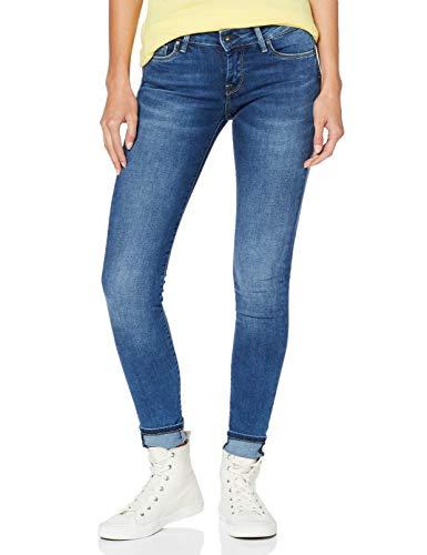 Pepe Jeans Damen Skinny Jeans, Blau (Denim 000), W27 (Herstellergröße: 27)