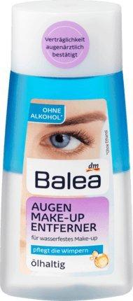 Balea Augen Make-up Entferner ölhaltig, 100 ml, vegan