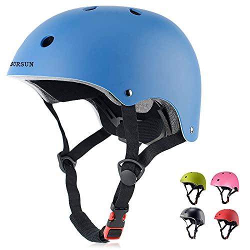 BURSUN Kids Bike Helmet Ventilation & Adjustable Toddler Helmet for Ages 5 and Older Kids Boys Girls Multi-Sport Helmet