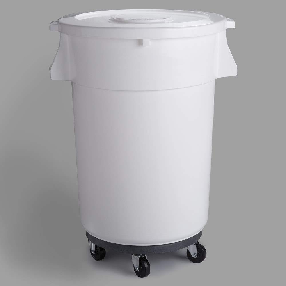 5 Pack 176 Indefinitely Qt. 44 Gallon 166 Round Save money Ingredient C White Bin