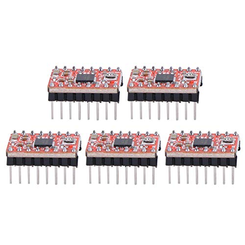 Stepper Motor Driver,5Pcs,Stepper Motor Driver Module Board,CNC Controller for Ramps 1.4 A4988 3D Printer Accessories