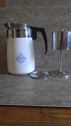 Corning Ware Cornflower P-116 6 Cup Coffee Percolator