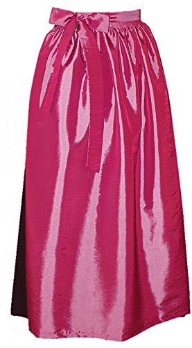 Schürze rosa für Dirndl Trachtenkleid Dirndlkleid Dirndlschürze festliche Taftschürze Trachten Mode Trachtenmode einfärbig hell-pink leichter Glanz apron, Farbe:rosa, Größe:S/M = 34 36 38