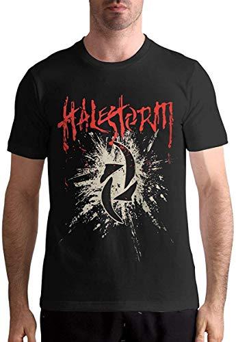 Maglietta Intima Halestorm da Uomo in Cotone Moda Sport Casual Girocollo Manica Corta T-Shirt Nero XXX-Large