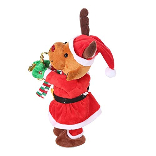 Santa Elektrisches Spielzeug, Weihnachtsweihnachtsmann Singen Tanzen mit Saxophon Plüsch Puppe Spielzeug for Urlaub Hochzeit Dekoration Weihnachten (Weihnachtsmann) (Color : A),Farbe:A Chongxiang