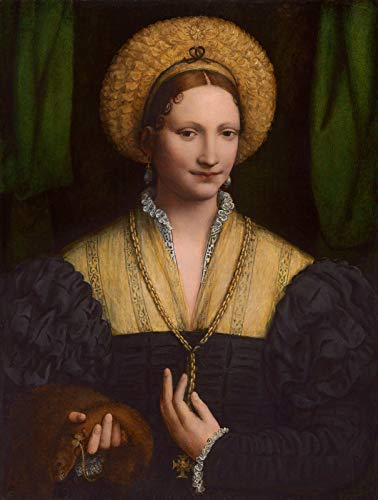 "Bernardino Luini Portrait of a Lady 1525 National Gallery of Art - Washington DC 30"" x 23"" Fine Art Giclee Canvas Print (Unframed) Reproduction"