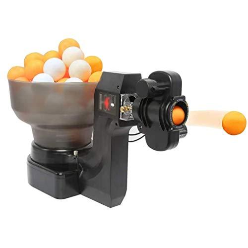 GSS-Rollstühle Tischtennis Roboter Tischtennis-Trainingsmaschine, Spins Ball automatischer Ping-Pong Ball Trainer Ausrüstung Gymnastikball Launcher mit Wired Remote