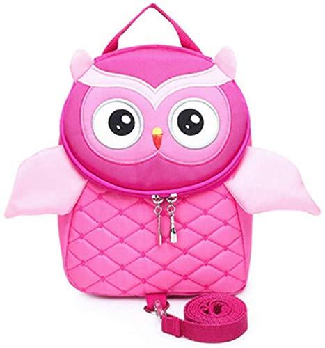 Children Backpack Kids Backpack, Toddler Anti-Lost Bag Owl Pattern Schoolbag Child Girl Boy Backpack Cartoon Schoolbag Anti-Lost Kindergarten Backpack Rucksack for Children Aged 2-10,Pink