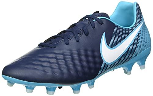 Nike Magista Onda II FG 844411, Scarpe da Calcio Uomo, Blu Ossidiana Blu Bianco Gamma Blu Ghiaccio Blu 414, 44.5 EU