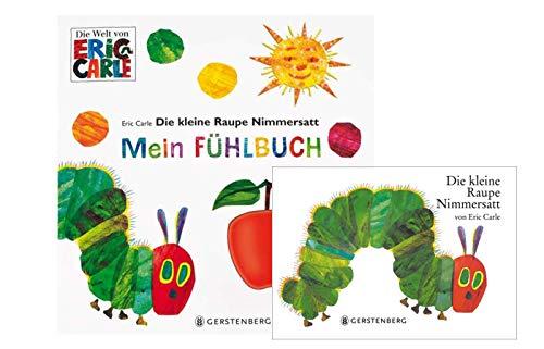 Buchspielbox Die kleine Raupe Nimmersatt (libro de cartón) + Die kleine Raupe Nimmersatt: Mein Fühlbuch