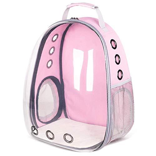 HIGHKAS Transparenter Haustierrucksack für den Außenbereich, tragbarer atmungsaktiver Rucksack für Haustiere, Space Capsule Bubble wasserdichte Handtasche für Katzen