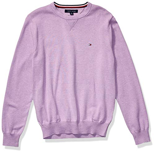 Tommy Hilfiger Men's Solid Crewneck Sweater, African Violet, SM
