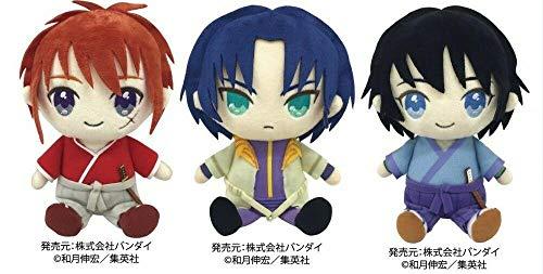 JapanAnimeshop Bandai Jump Exhibition Limited Rurouni Kenshin Three Mini Plush Dolls Set Himura Kenshin Seta Sojiro Shinomori Aoshi