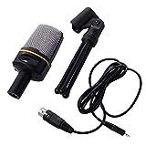 freneci Microphone de 3,5 Mm Kit Microphone pour Ordinateur Portable/Pc en Streaming Podcast PC Desktop