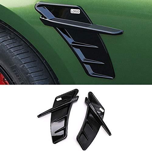 Accessori auto Sticker 2pcs Car Fender Laterale For Audi ABT Sticker In Forma For L'Audi A6 C6 C5 A3 A1 A4 B8 A5 A7 A8 S3 S4 S5 S6 S8 RS3 ABT RS8 Sticker (Color : Bright Black)