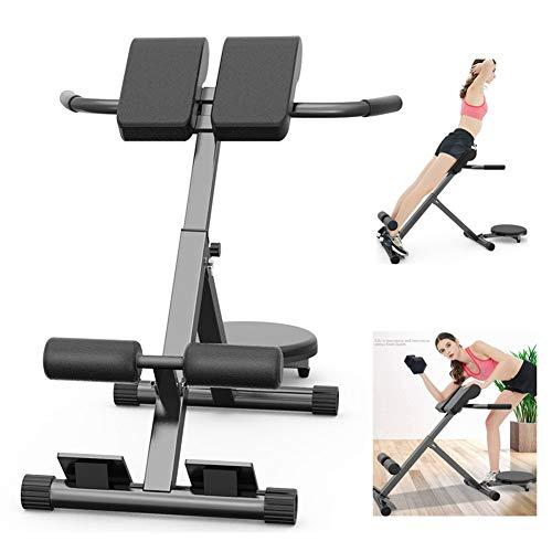 WSCQ Verstellbarer Römischer Stuhl, Rückentrainer Klappbar Tragende 300 kg, für Fitnessstudio, Krafttraining zu Hause