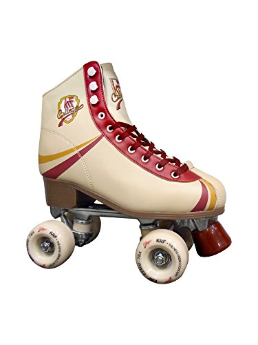 KRF Kinder College Rollschuhe, Roller Figure Quad, Retro, Multicolor, 37