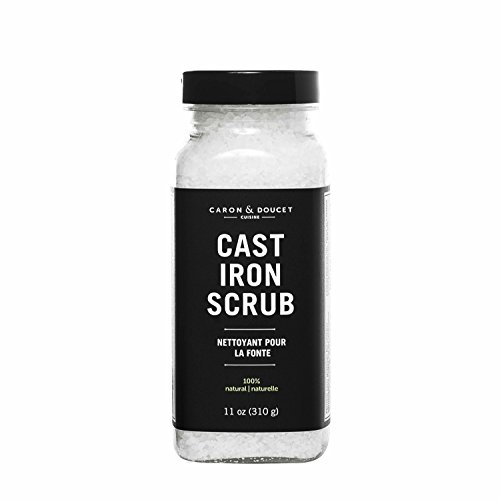 Caron & Doucet - Cast Iron Cleaning & Restoring Scrub | 100% Natural | Best for Removing Rust Without Scratching & Care Before Cleaning, Washing & Seasoning | For Skillets, Pans & Cast Iron Cookware.
