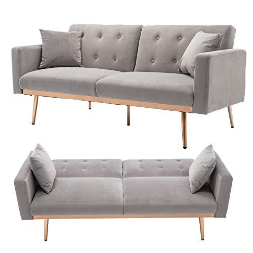 TITA-DONG Velvet Sofa Convertible Sleeper Sofa