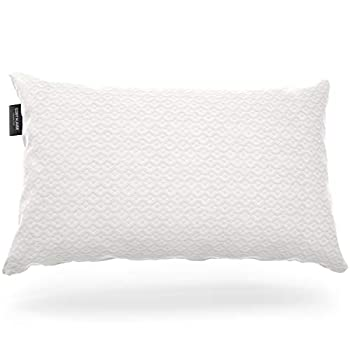 Cosy House Collection Luxury Bamboo Pillow for Sleeping - Premium CertiPUR-US Certified Shredded Memory Foam Pillow with Hypoallergenic Machine Washable Zippered Pillow Case Cover - Adjustable  Queen