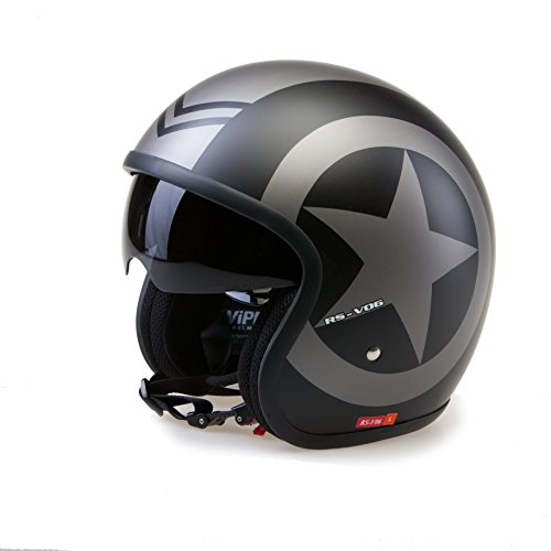Viper RSV06 Casque de moto ouvert 59-60 cm Nero Opaco Star