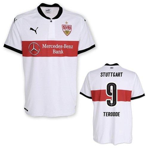 VFB Stuttgart Heimtrikot Erwachsene mit/ohne Flock 2017/18, Größe:XL, Spielername:9 Terodde