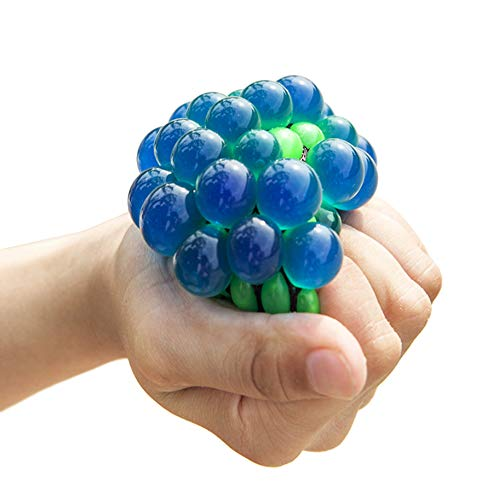 Lanking Anti-Stress-Ball Grape Ball, Masche Stress Bälle Anti-Stress-Dekompression Release Spielzeug(Zufällige Farbe)