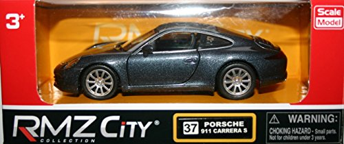 Tirer vers l'arrière et aller coulé sous pression Porsche 911 Carrera S - gris foncé (HL7L) [jouet]