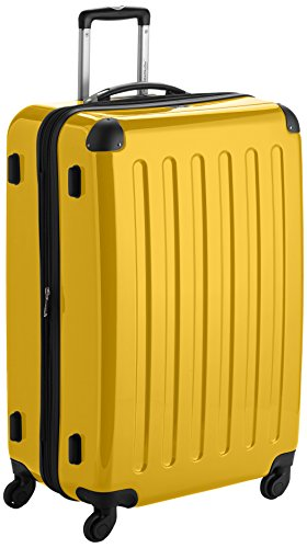HAUPTSTADTKOFFER - Alex - Luggage Suitcase Hardside Spinner Trolley 4 Wheel Expandable, 75cm, yellow