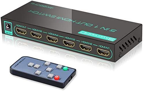 Upgraded SkycropHD 4K60Hz HDMI Switch 5 Port HDMI 2 0 Switcher with Remote Support Auto Switch product image