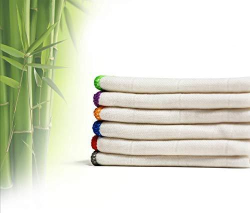 吸水性極佳! 竹纖維厨房抹布/洗碗布
