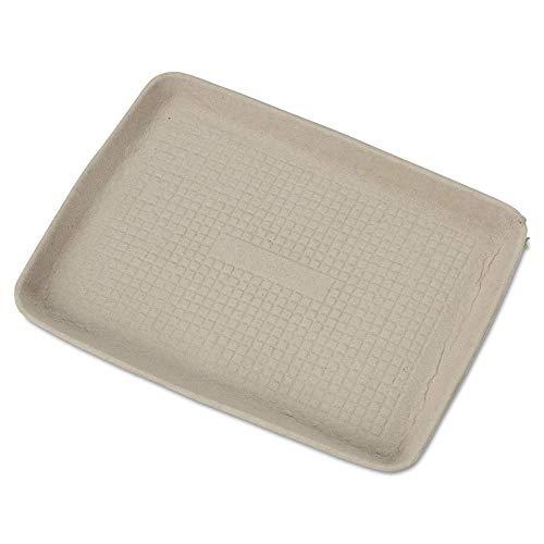 professional Chinet StrongHolder spun fiber tray, 9 x 12 x 1, beige, 250 pcs / box