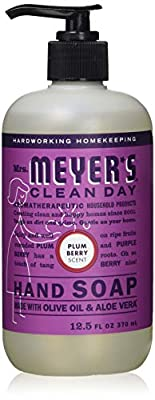 Mrs. Meyer's Clean Day Liquid Hand Soap, Plum Berry Scent, 12.5 oz- Pack of 6