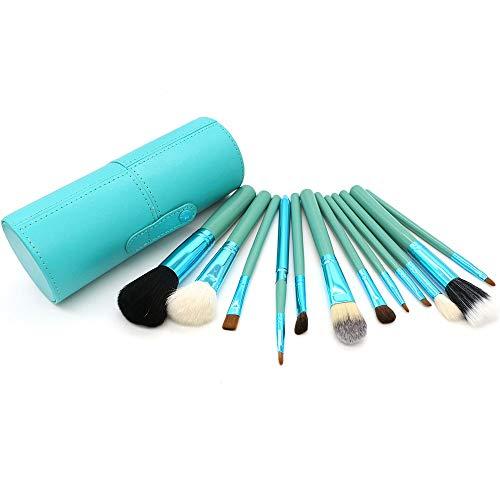 Pinceaux de maquillage avec étui pinceau Beauty Blender Cleaner Foundation Pinceau Ombre à paupières Eye-liner Pinceau à sourcils Pinceaux à maquillage LTJHHX (Color : Vert, Size : Libre)