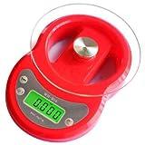 Báscula de baño digital Bandeja de hornear cocina balanza electrónica con 7 kg / 1 cocina de acero inoxidable platillo de la balanza de cocina balanza de cocina electrónica, blanca ( Color : Red )