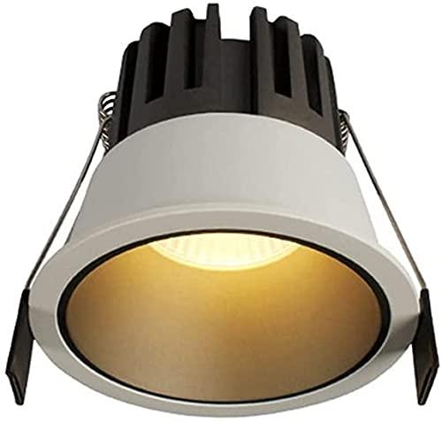 Raelf Moderno incorporado LED Downlights Anti-resplandor Anti-Brillo 7W RA □ 93 770LMCOB Luz de techo para la sala de estar del dormitorio, 3000k / 4000K Home Commercial para el techo Villa Inicio Ilu