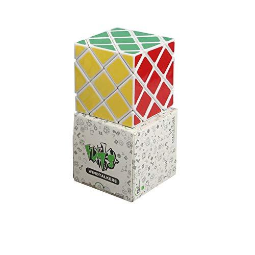 LAOER Cubo de Rubik - Cubo Irregular hexaedro octaédrica - diversión for Adultos Juguetes for niños Juguetes educativos del Cubo de Rubik (Color : White)