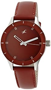 Fastrack Monochrome Analog Red Dial Women's Watch NM6078SL06/NN6078SL06
