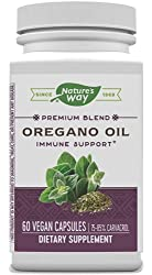 Nature's Way Oregano Oil; 75-85% Carvacrol per Capsule; Vegetarian; 60 Vegetarian Capsules