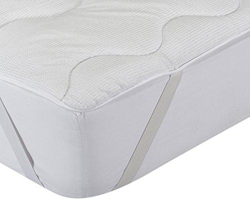 Classic Blanc - Surmatelas en fibre hypoallergénique et thermorégulateur, confort médium-ferme, épaisseur 3cm. 140x200cm-Lit 140
