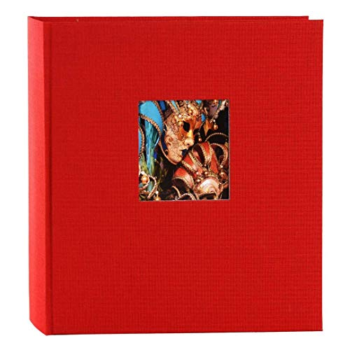 Goldbuch Fotoalbum mit Fensterausschnitt, Bella Vista, 30 x 31 cm, 60 weiße Seiten mit Pergamin-Trennblättern, Leinen, Rot, 27890
