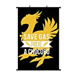 Final Fantasy Chocobo Wall Hanging Scroll Poster Wall Art Print Artwork Painting for Home Decor Living Room Bedroom Fans Gift