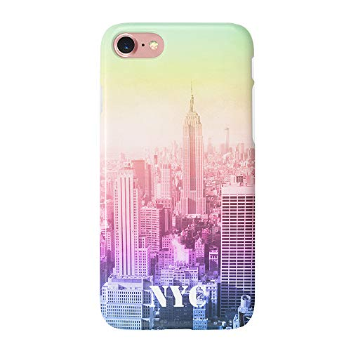uCOLOR Case Compatible with iPhone 6S 6 iPhone 8/7 Cute Gradient New York City Protective Case Slim Soft TPU Silicon Shockproof Cover Compatible iPhone 6s/6/7/8(4.7 inch)
