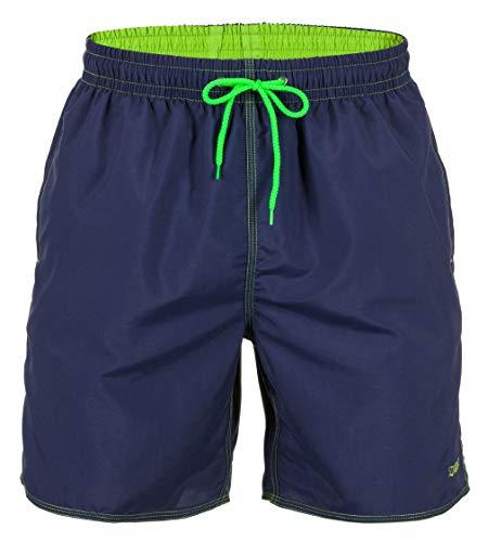 Zagano Badehose Herren Badeshorts, Boardshorts für Männer mit Kordelzug, Badehose, Sporthose, Shorts S Blau, hergestellt in der EU