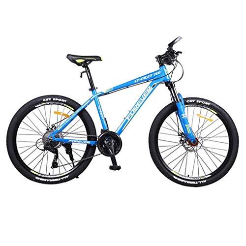 Mountainbike Bici Bicicletta MTB Mountain Bike 26 Pollici Maschio / Femmina Biciclette Hard-coda, Freno A Disco Doppio Fream Lega Di Alluminio E Sospensione Anteriore 27 Velocità MTB Mountain Bike
